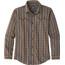 Patagonia Pima overhemd en blouse lange mouwen Heren bruin/bont